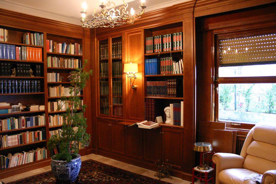Librerie Di Legno Classiche.Arredamenti Librerie In Legno